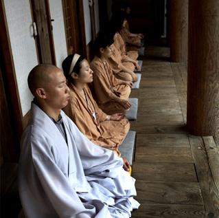 Chamseon: Zen Meditation; jwaseon (seated meditation). The other form of Chamseon is haengseon (walking meditation)