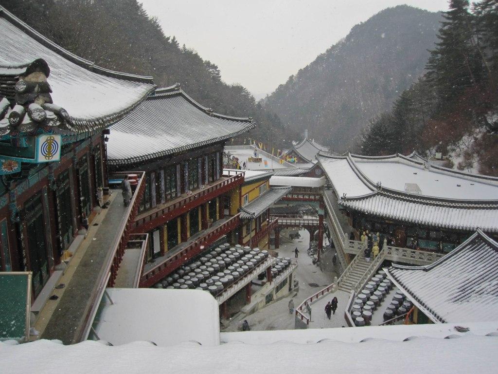 Snowfall in the Sobaek Mountain.