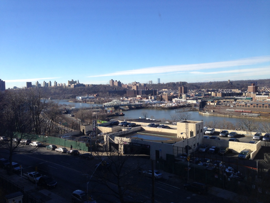 The View from Studio Apartment in Bronx, New York