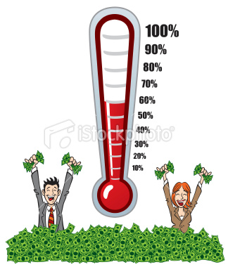 Fundraising Thermometer is what they're called.